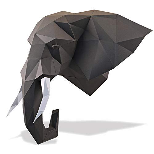 DGFTC-2 3D Paper Art Craft Wall Decoration DIY Wall Paper Trophy DIY Papercraft Wall Mount Handmade Crafts Animal Decoration Home Living Room Decoration