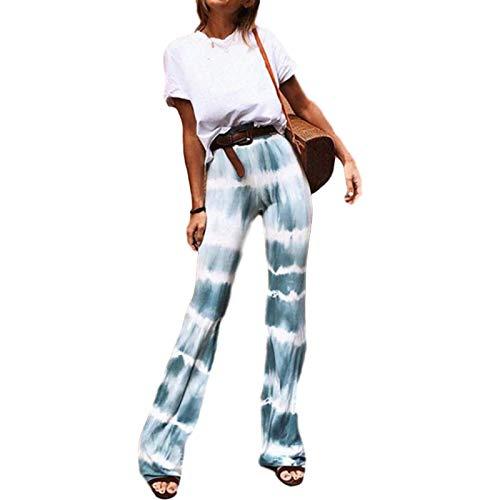 Katenyl Pantalones Vaqueros de Tela elástica cómodos para Mujer Pantalones Ajustados clásicos de Tiro Medio con Agujeros en la Rodilla Desgastados M