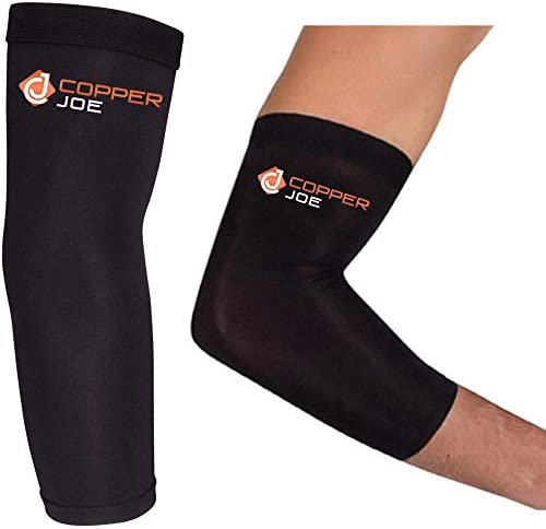 Copper Joe Compression Recovery Elbow Sleeve Highest Copper Content Elbow Brace for Arthritis product image