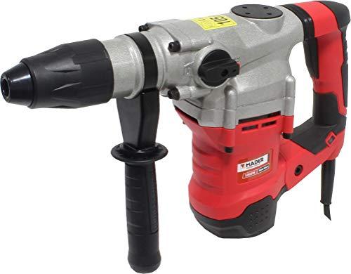 Mader Power Tools 63129 Taladro Martillo 1600W 40 mm, Sistema SDS MAX, 2 Funciones