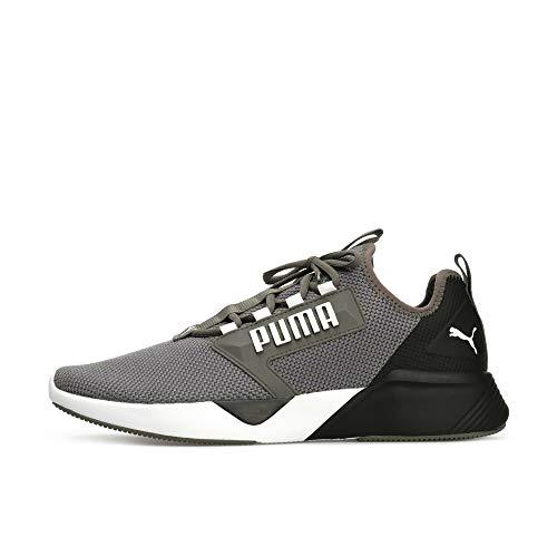 PUMA Retaliate Herren Laufschuhe Castlerock-Puma Black-White UK 9_Adults_FR 43