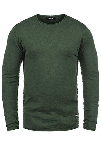 !Solid Krimmich Herren Strickpullover Feinstrick Pullover Mit Rundhals Aus 100% Baumwolle, Größe:XL, Farbe:Climb Ivy (3785)