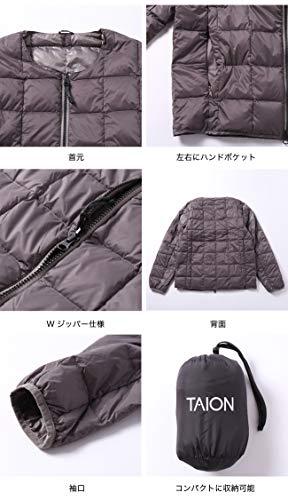 TAION(タイオン)『クルーネックWジップインナーダウンジャケット』