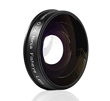 Opteka Platinum Series 0.2X Low-Profile HD Ultra Wide Fisheye Lens for Canon Sony JVC Video Cameras with 37mm Threads