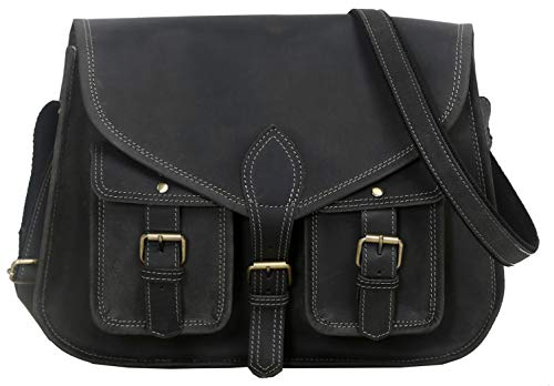 Made from Full grain buffalo leather this bag is hand crafted by artisans working with leather for decades Concealed lock under main buckle for easy access . Rustic Vintage look which makes each bag unique ( just like the person who owns them ) Size ...