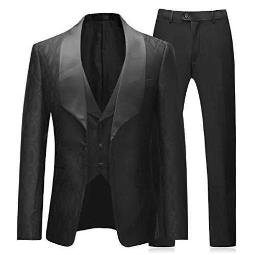 Mens Suits 3 Stuks Slim Fit Business Bruiloft Diner Pak Party Draag Prom Jurken Blazer Waistcoat Broek Blauw Navy