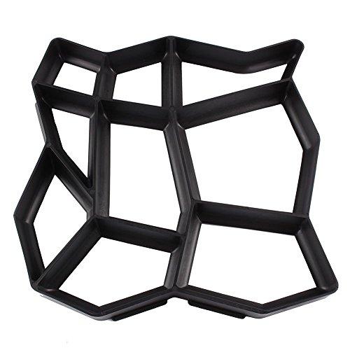 Gototop Pflaster-Gussformen, Schablonen für Weg- und Terrassenfliesen 43*43*4CM