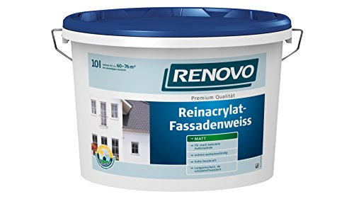 RENOVO Reinacrylat Fassadenweiß,10 Liter 10 l
