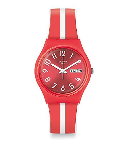 Swatch Reloj Analógico para Mujer de Cuarzo con Correa en Silicona GR709