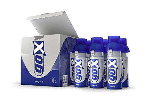 goX - Medizinischer Sauerstoff (6 L) zur Inhalation, 6er Pack (6 x 6 L Dose)