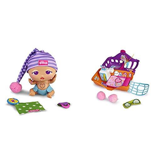 The Bellies - Sleepy Guzzz, Muñeco para Niños y Niñas a Partir de 3 Años (Famosa 700015316) + Bellies - Bellies Resort SPA, Accesorio muñeco bebé para niños y niñas (Famosa 700015538)