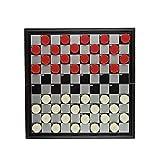URNOFHW Juego de Damas Juego Damas de Tablero de ajedrez Plegable magnético 25 * 25 cm Tablero de Damas 40 Piezas
