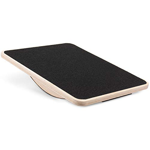 """Yes4All Non-Slip Rocker Balance Board, 17.5"""" Physical Therapy Rocker Board for Injury Rehabilitation Exercise and Core Strength Training (Black)"""