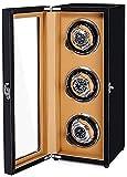 CCAN Enrollador de Reloj automático, Caja de Reloj antimagnética de Cuerda automática para Reloj mecánico, Pintura de Piano + Madera de Pino de Alta Densidad