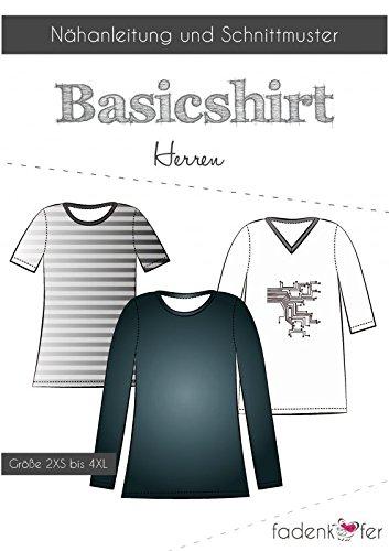 Stoffe Werning Schnittmuster Fadenkäfer Basic Shirt Herren Gr.2XS bis 4XL Papierschnittmuster