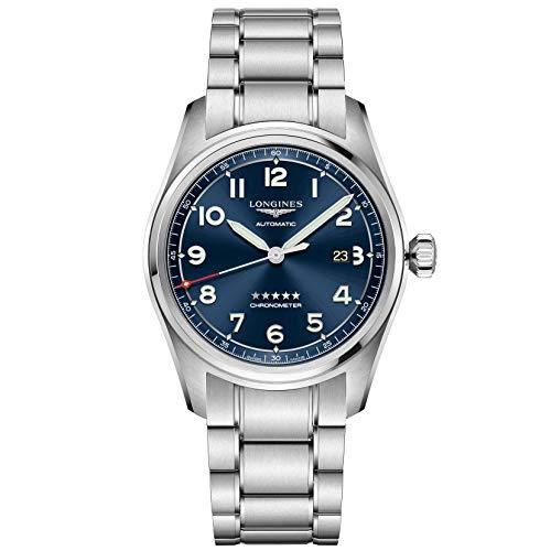 Longines orologio Spirit 42mm blu automatico acciaio L3.811.4.93.6