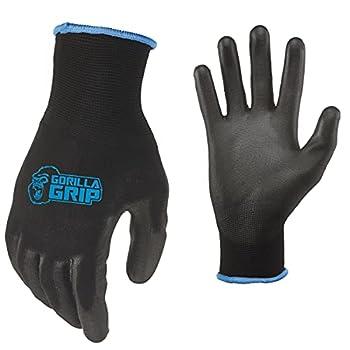 Gorilla Grip Slip Resistant All Purpose Work Gloves   Size  Large   Single Pair of Gloves