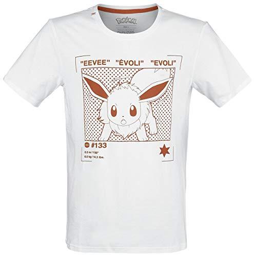 Pokémon Evoli T-Shirt weiß XXL