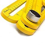 Multi Angle Measuring Ruler Made of Premium Aluminum Easy Angle...
