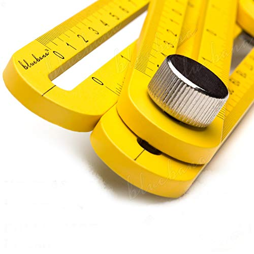 Multi Angle Measuring Ruler Made of Premium Aluminum Easy Angle Ruler...