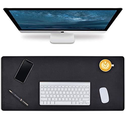 Alfombrilla de escritorio, alfombrilla para ratón, grande, para portátil, piel sintética, multifuncional, para oficina, resistente al agua, alfombrill