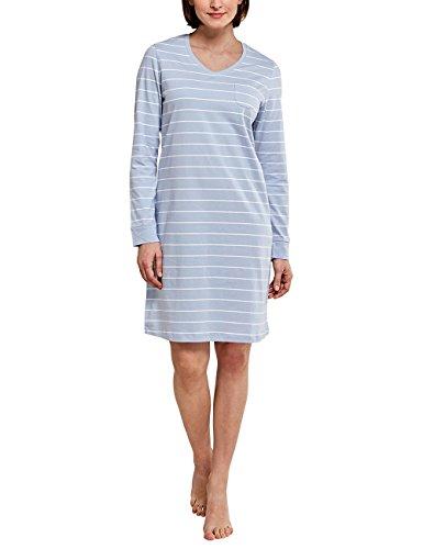 Schiesser Damen Selected Premium Sleepshirt 1/1 Arm, 95cm Nachthemd, Blau (hellblau 805), 38 (Herstellergröße: 038)