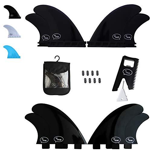 Ho Stevie! Fiberglass Reinforced Polymer Surfboard Fins - Quad (4 Fins) FCS or Futures Sizes, Choose Color (Black, FCS)