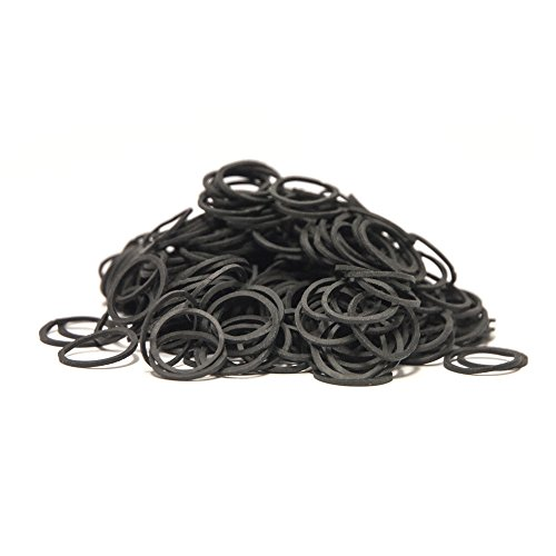 Roma Rubber Plaiting Band One Size Black