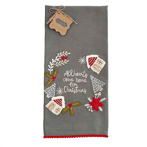 Mud Pie Fringe Christmas Towel (All Heart)