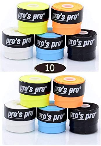 Pro 10 Overgrip Pros Super Tacky Tennis Grips Colores