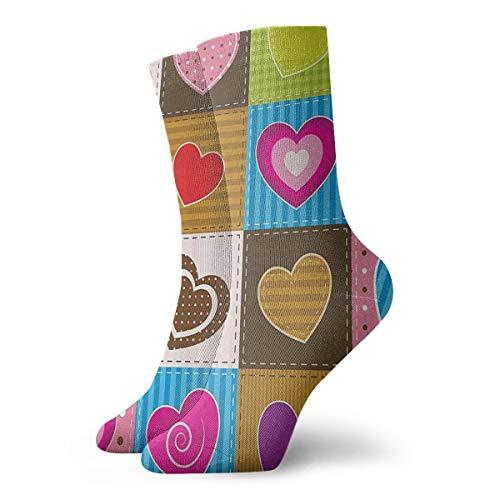 Patchwork-Socken in Herzform für Damen und Herren