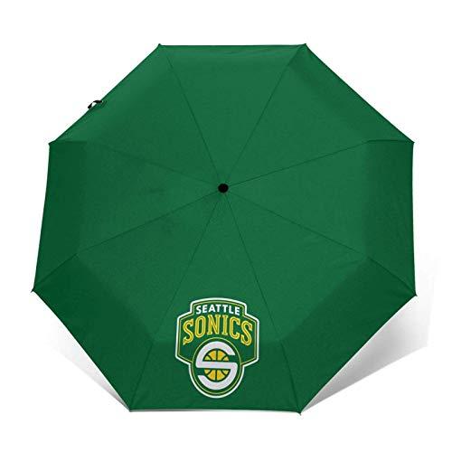 Supersonic Unisex Portable Windproof Compact Automatic Tri-fold Umbrella Rain proof