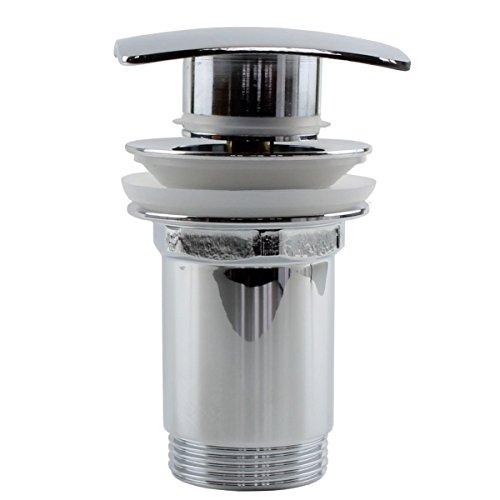 Sanixa JL26VDA4 Design afvoerset rechthoekig/vierkant messing | POP UP ventiel voor wastafel wasbak | afvoerset | kliksluiting