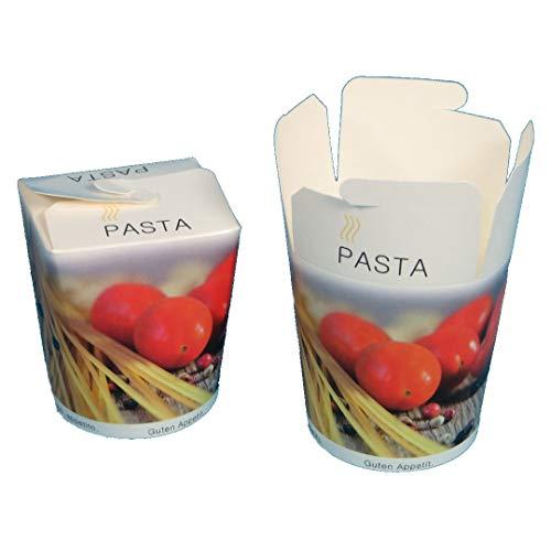 500 Pastaboxen Foodboxen Food to go Boxen Nudelboxen Pasta to go Snackboxen Take away Foodboxen mit Neutralmotiv 26oz ca.700ml