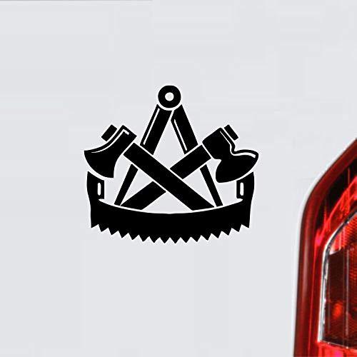 myrockshirt Zimmerer Zunftzeichen Wappen Symbol Handwerk ca. 20 cm Aufkleber,Autoaufkleber,Sticker,Decal,Wandtattoo, aus Hochleistungsfolie,UV&waschanlagenfest,Lack,Scheibe,Wandtattoo,