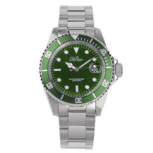 Orologio uomo Perseo Trestelle Submariner 6789.03 verde con ghiera verde