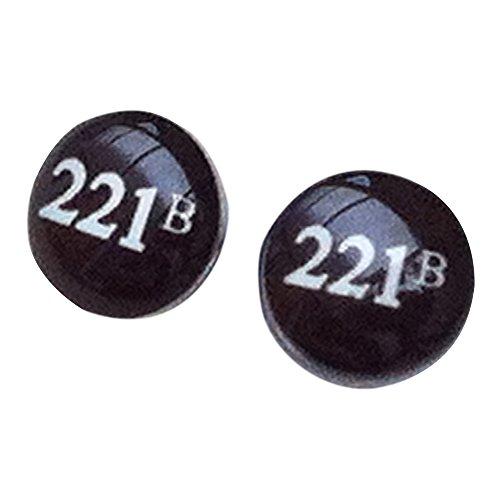 Sherlock Holmes 221B Baker Street Edelstahl 8mm Ohrstecker