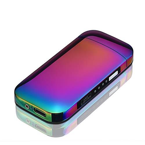 Elektronische Aansteker Dubbele Arc Aansteker LED Usb Elektrische Aansteker Plasma Oplaadbare Vlamloze Winddichte Touch Schakelaar Aansteker Goed voor Sigaret Kaars Pijp