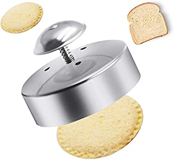 FENDIC Sandwich Cutter and Sealer for Kids 3-1/2 Inch Stainless Steel Round Sandwich Cutter Sandwich Sealer and Decruster Sandwich Maker Sandwich Cutter for Making Sandwiches Hamburgers Pie
