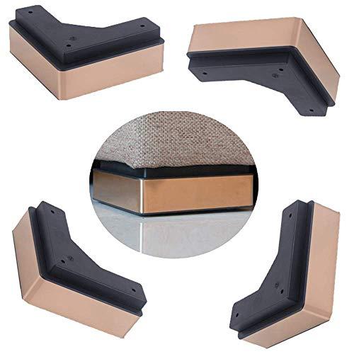 WYBW Pies de soporte para muebles, 4 patas de muebles/Pies de sofá de acero inoxidable/Pies de armario negros/Mueble de televisión moderno, mesa de centro, mesa de trabajo Pies de soporte para