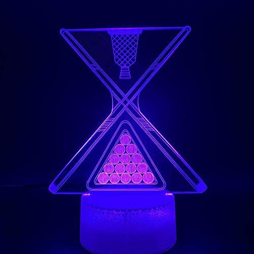YANGQING LED-Illusions-Licht, 3D-Nachtlicht, Snooker-/Pool-Beleuchtung, Bar-Theke, Atmosphäre, Zuhause, Batterie, USB-Tischlampe