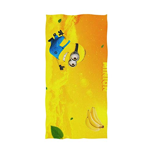 FETEAM Minions Banana Toalla de baño Toalla de Playa Uso como Yoga Viajes Camping Gimnasio Toallas de Piscina en Carrito de Playa Sillas de Playa Talla única
