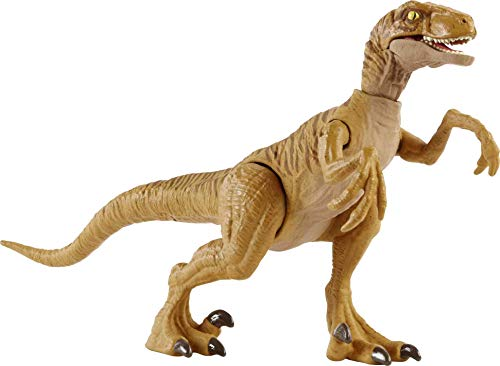 Dinossauro Velociraptor Marrom Jurassic World Camp Cretaceous