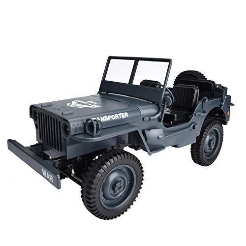 JYLSYMJa Coche de Control Remoto JJRC Q65, camión Militar Todoterreno 4WD de 2,4 GHz, Escala 1/10, Todo Terreno, vehículo de Escalada, Modelo de Coche de Juguete, Regalo para niño y niña(Azul)