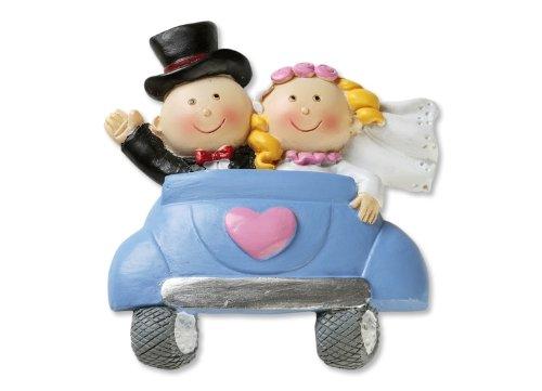 Bruidspaar * bruidspaar in de auto 2D * taartdecoratie * taartfiguur * tafeldecoratie