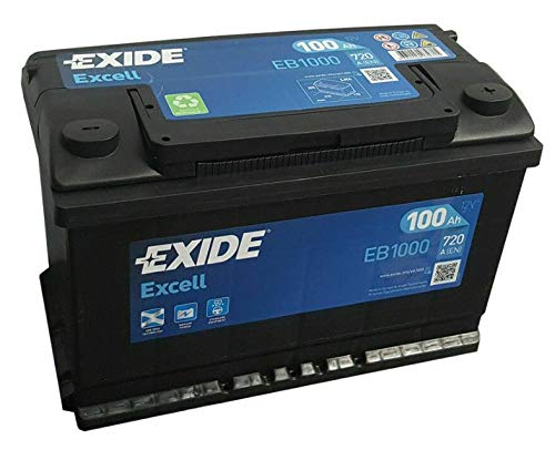 EXIDE EB1000 BATTERIA AUTO EXCELL 100AH 720EN POSITIVO DX 12V