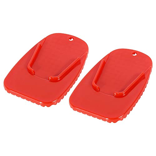 F FIERCE CYCLE 2pcs Motorcycle Kickstand Pad Stand Side Stand Extension Pad...