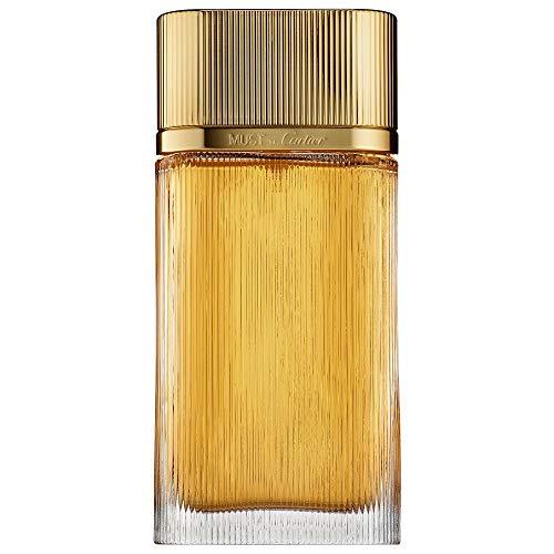Cartier Must De Cartier Gold For Women Eau De Parfum Spray, 3.4 Ounce (Tester/Plain Box)