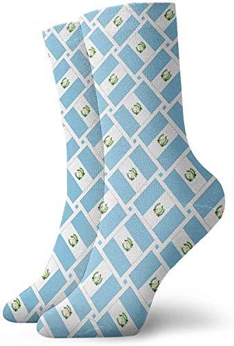 QUEMIN Calcetines informales con placa de hierro hexagonal, calcetines con amortiguación, calcetines deportivos esenciales para hombres y mujeres, 30 cm