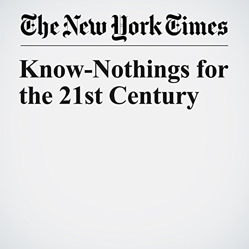 Know-Nothings for the 21st Century copertina
